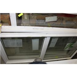 PVC 59 1/4 INCH X 29 1/2 INCH SLIDING WINDOW