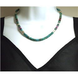 Navajo Turquoise & Multi-Stone Necklace - Tommy Singer