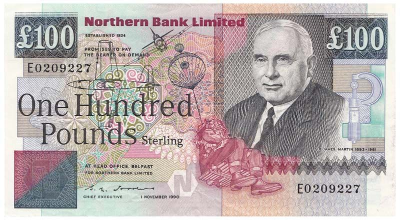 Northern Ireland 1990 100 Pound Original Gvf Loading Zoom