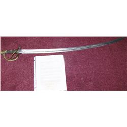 U.S  CIVIL WAR ERA  HEAVY CALVARY SABER 1851, PATTERN OF 1840  'THE WRIST BREAKER' MADE BY AMES