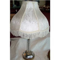 ART DECO STYLE LAMP WITH FINE SHADE