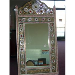 MOROCCAN STYLE BEJEWELED MIRROR  55T X 28W