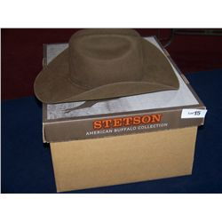 STETSON BROWN COWBOY HAT   71/8..  57    IN ORIGINAL BOX
