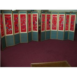 "PAIR OF ANTIQUE CHINESE""INBROTHERY SCREEN"" SCREENS . PREVIOUSLY APPRAISED $40,000."