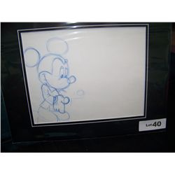 """MICKEY MOUSE"" ORIGINAL HAND PAINTED PRODUCTION DRAWING"