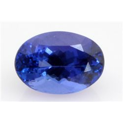 6.48 ct Tanzanite African Stone Oval approx. 9.4x13.4mm