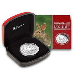 2011 Year of the Rabbit 1oz Proof Silver Coin (Series I