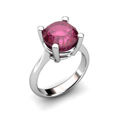 Ruby 4.50ctw Ring 14kt White Gold