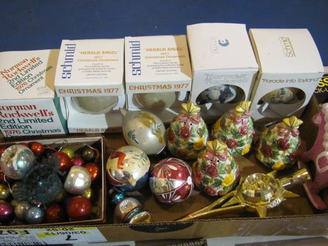 Vintage collectible schmid christmas ornaments for Collecting vintage christmas ornaments