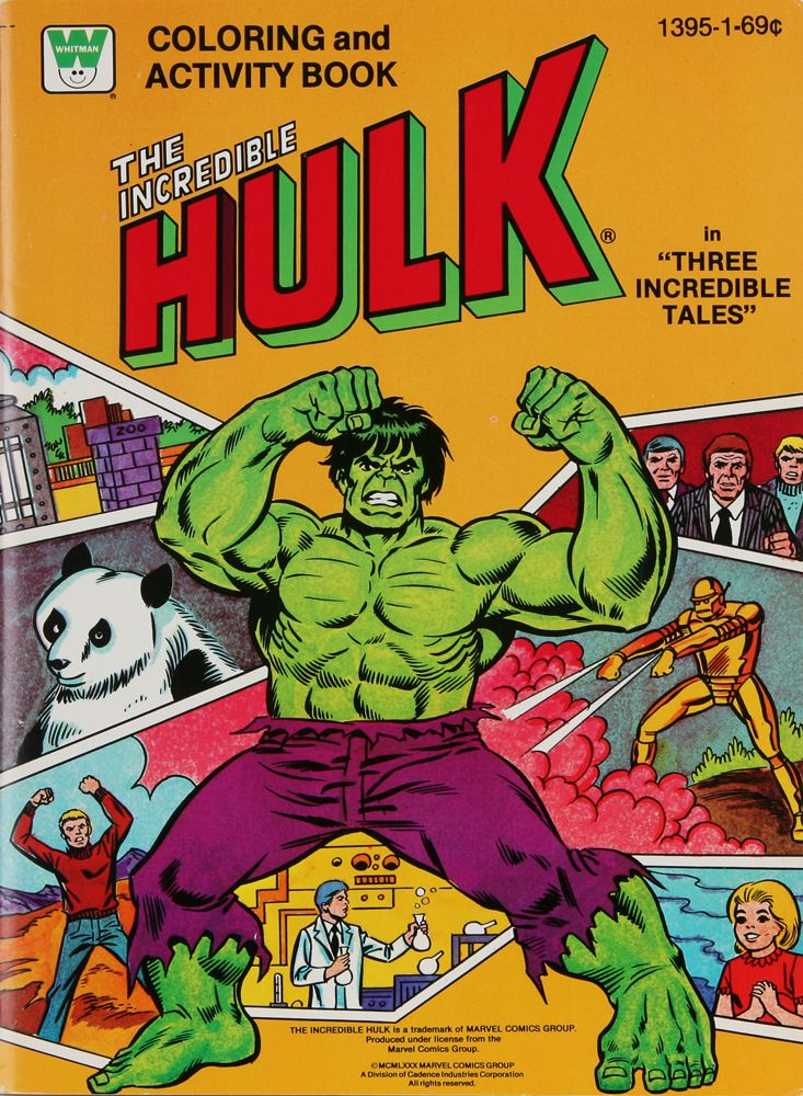 1980 Incredible Hulk Coloring Book Original Artwork