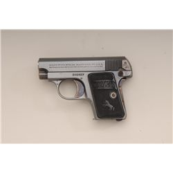 "Colt Model 1908 semi-auto pistol, .25 cal.,  2"" barrel, blue finish, checkered hard rubber  grips, #"