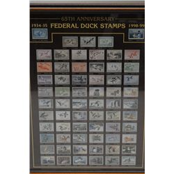 65th Anniversary Collection of Federal Duck  stamps. Published by Spor,en Art - Sullivan  IL. Licens