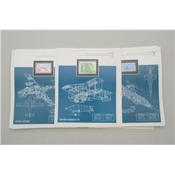 Lot of great historical aircraft stamps from  the world mint stamp collection in their  original dis
