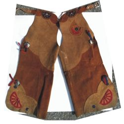 Colorful Kids batwing chaps