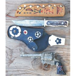 Western cap gun and holster