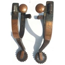 Kelly Bros copper mounted spurs