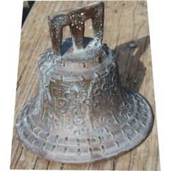 "brass mission bell, 7"" at the base"