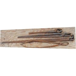 4 sets of large forge tongs