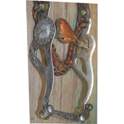 Silver mounted headstall,