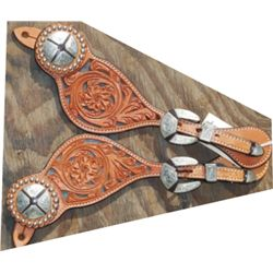 tooled spur straps