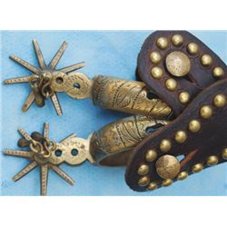 brass Mexican spurs with Morrell straps