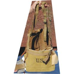 US cavalry feed bag and curry comb