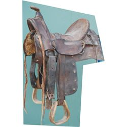 old half seat saddle with Sam Stagg rigging