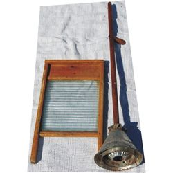 antique washer and wash board