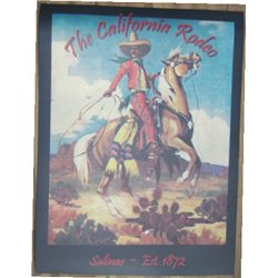 colorful The Salinas Rodeo poster reprint