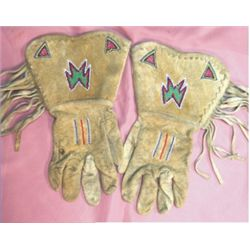 Shoshone beaded gauntlets