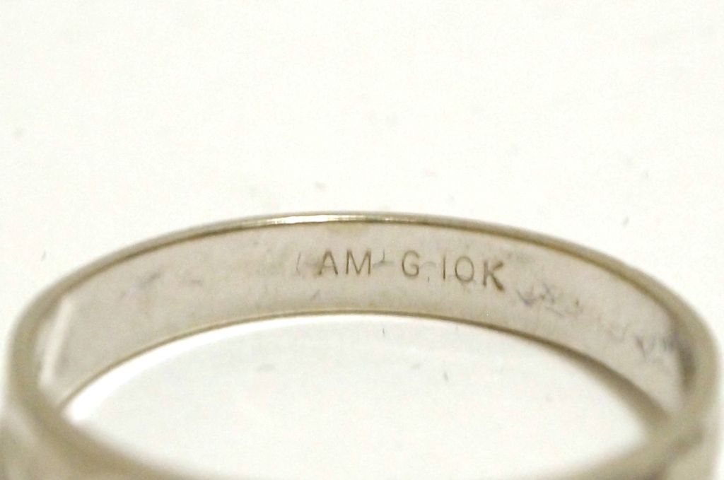 dead pawn 10k white gold s ring am