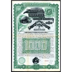 Brooklyn, Bushwick and Queens County Railroad Co., 1886, Specimen Bond.