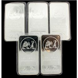 BULLION: 10 troy ounce 999 silver bar; Silver Towne, LP; sealed in soft plastic; Serial 215410. BULL