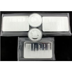 BULLION: Three (3) 10 troy ounce 999 silver bars; NTR Metals; sealed in soft plastic; No Serial Numb