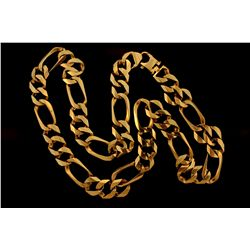 "CHAIN: Men's 10ky figaro link chain necklace; 17.02mmW x 4.05mmT x 30.75"" long; 167.22 grams."