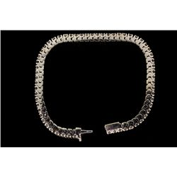BRACELET: Men's 10kw diamond link bracelet; 300 rb dias, 2.6mm to 3.0mm = est 24.00cttw, Good/H-K/I1