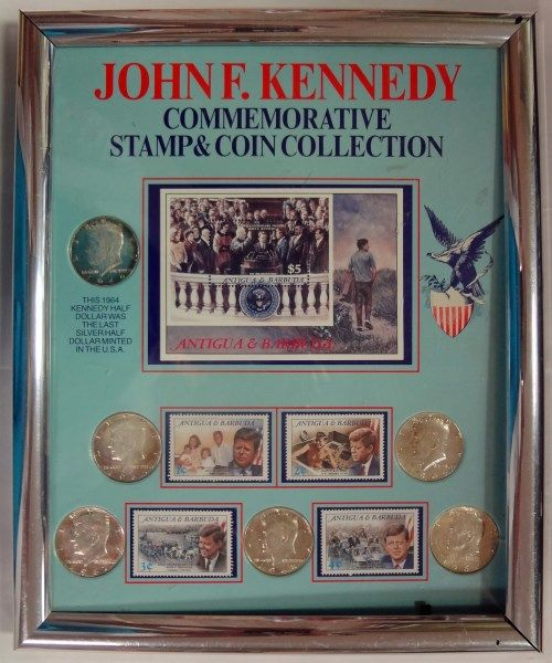 john f kennedy commemorative stamp and coin collection