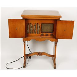 Vintage Radio Cabinet with