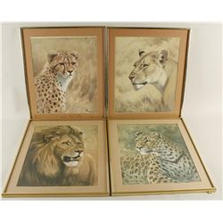 Lot of 4 Wild Life Prints