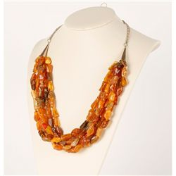 Beautiful Baltic 5 Strand Amber Necklace
