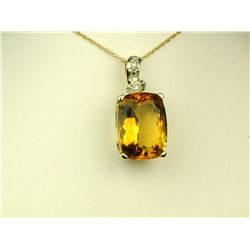 Colorful 10K Yellow Gold Ladies Pendant