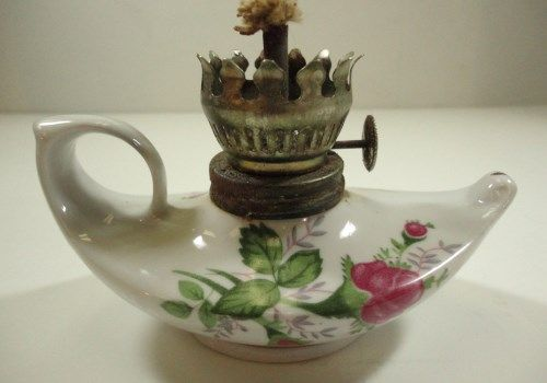 Vintage Miniature Oil Lamp Made In Hong Kong 3 Quot Tall