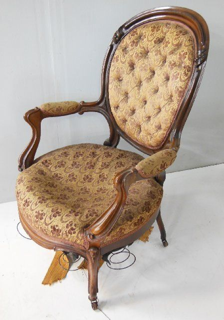 ... Image 8 : Victorian Oval Back Walnut Settee U0026 Chair