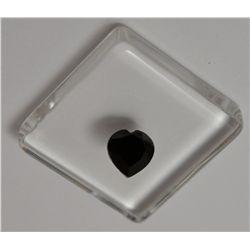 **Black Spinel Gemstone  Heart Shaped Cut   1.05 ct  Beautiful **