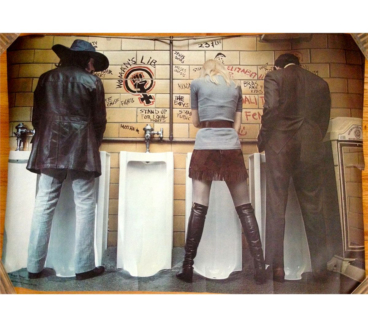 1970\'s WOMENS LIB Vintage Poster - URINAL