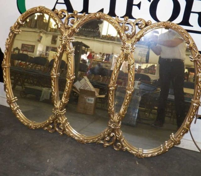 Triple Oval Overlapping Mirror