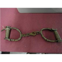 Antique Shackles or Handcuffs