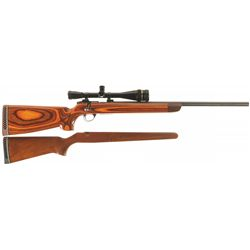 Custom Sako Model 78 Bolt Action Rifle with Scope and Bench Rest