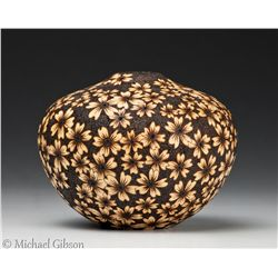 Hollow Form With Pyrography