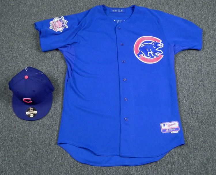 Image 1   Game Worn Edgar Tovar Bullpen Coach Cubs Jersey and Hat ... 8fc44b0cc4a